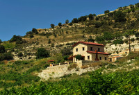 House on the way Troodos Mountains