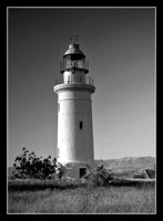 Light house in Paphos B&W